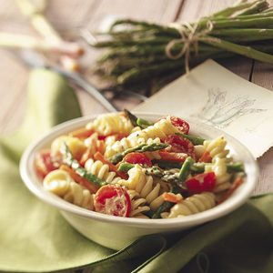 Creamy Pasta Primavera for Two