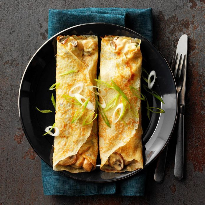 Day 23: Creamy Scallop Crepes