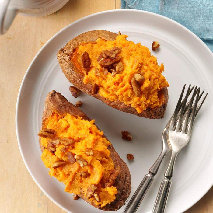 Creamy Twice-Baked Sweet Potatoes