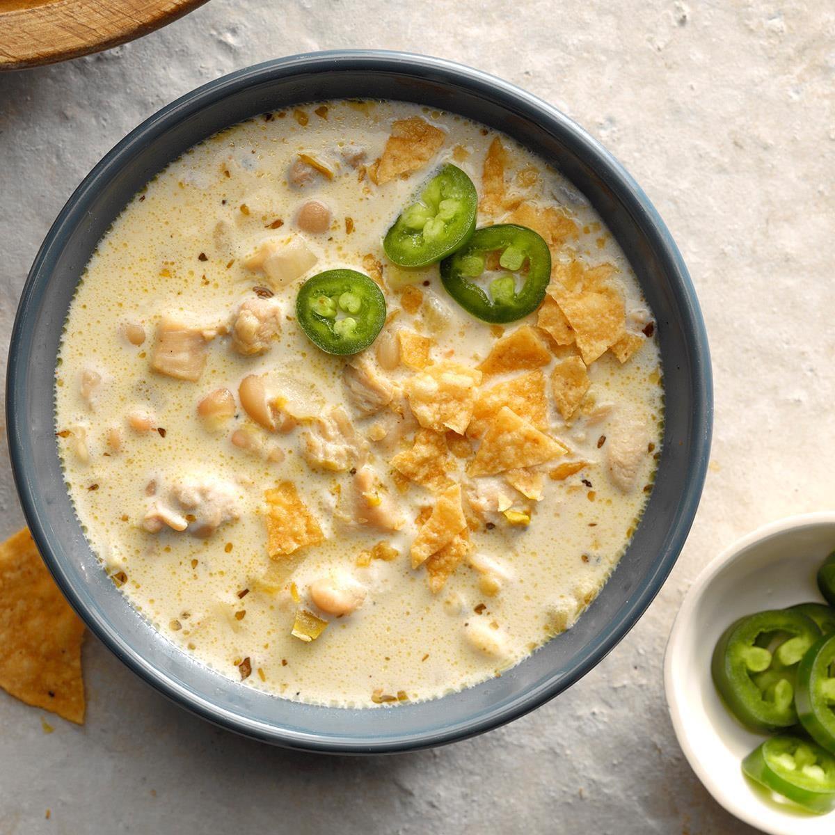 creamy white chili rh tasteofhome com