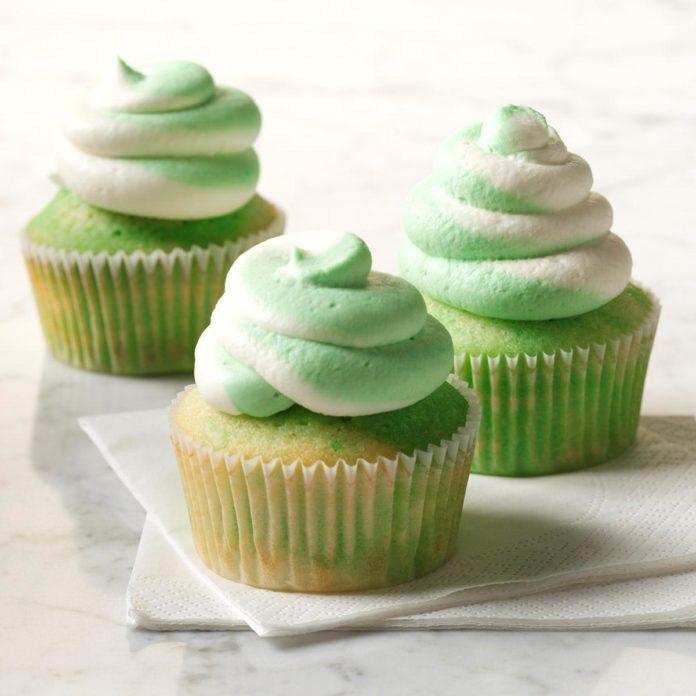 Creme de Menthe Cupcakes