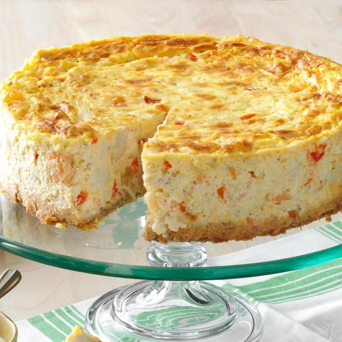 Creole Shrimp & Crab Cheesecake
