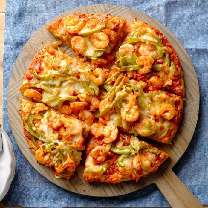 Creole Shrimp Pizza