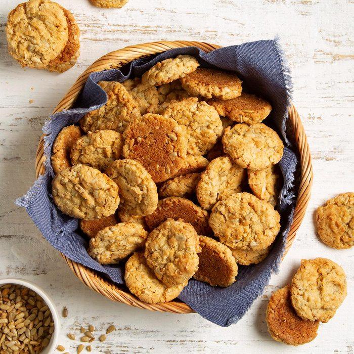 Crisp Sunflower Cookies