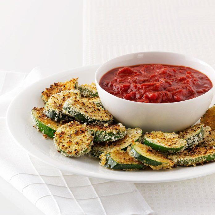 Crispy Grilled Zucchini with Marinara