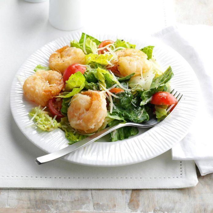 Crispy Shrimp Caesar Salad