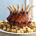 Crown Roast of Pork with Mushroom Dressing