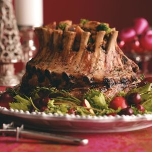 Crown Roast with Broccoli Mushroom Stuffing