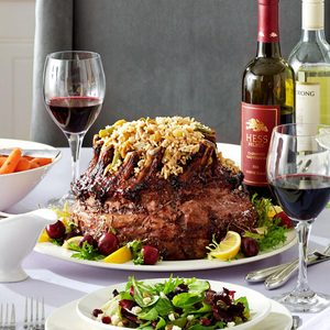 Crown Roast with Spring Rice Pilaf