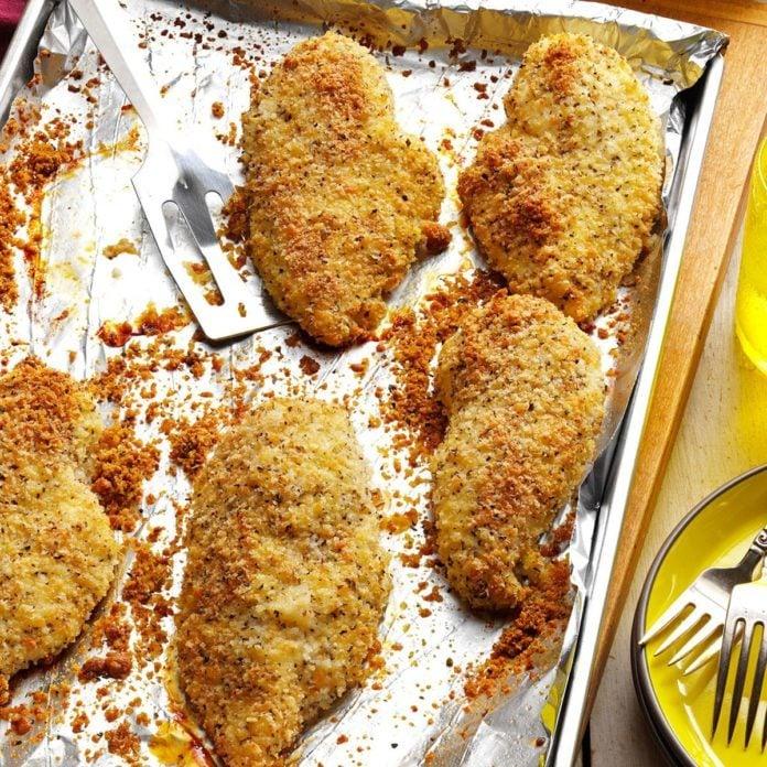Crunchy-Herbed Chicken Breasts
