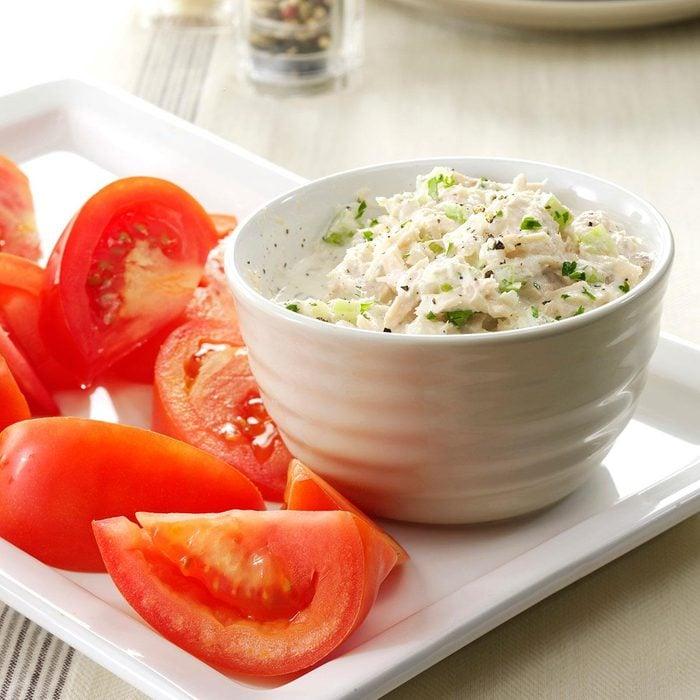 Crunchy Tuna Salad with Tomatoes