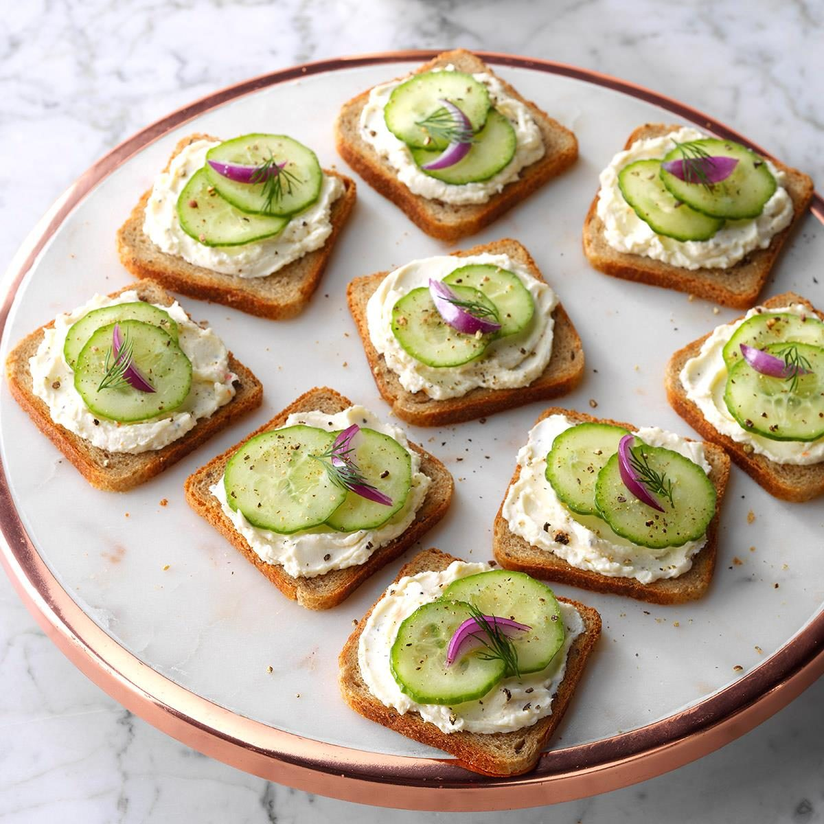 cucumber party sandwiches taste of home. Black Bedroom Furniture Sets. Home Design Ideas