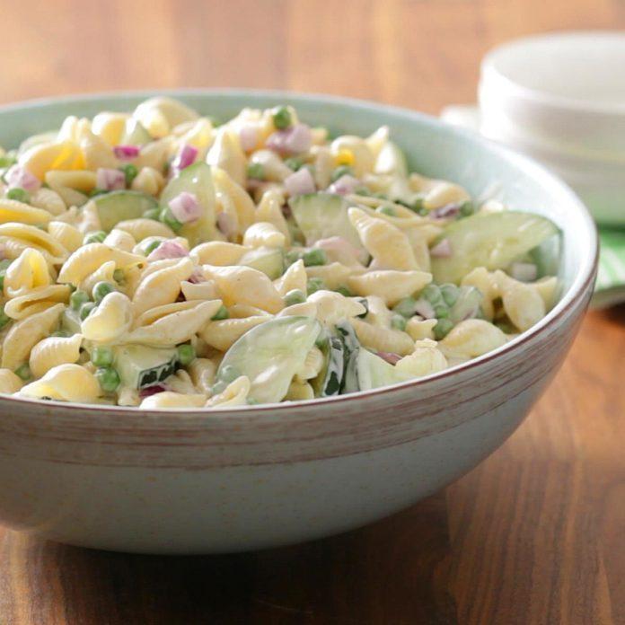 Nebraska: Cucumber Shell Salad