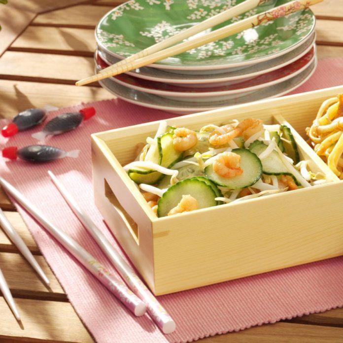 Cucumber and Shrimp Sunomono