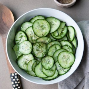 Cucumbers with Dill