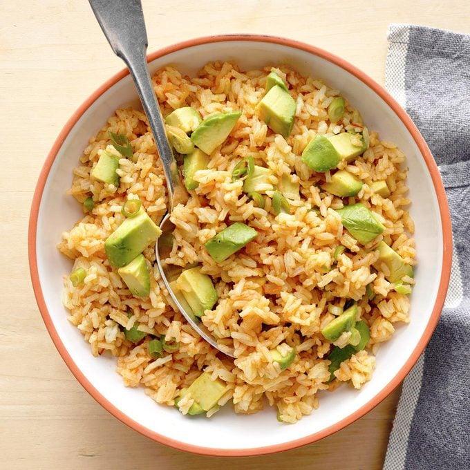 Cumin  Rice with Avocado
