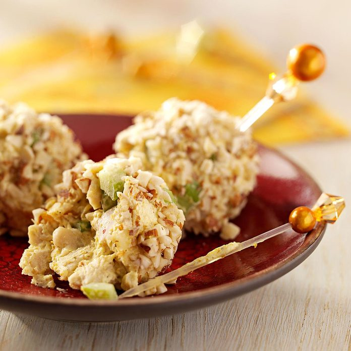 Curried Chicken Balls Appetizer