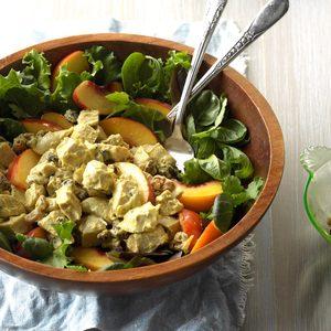 Curried Chicken & Peach Salad