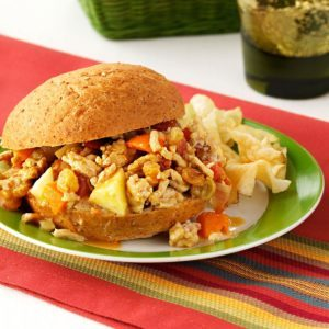 Curried Chicken Sloppy Joes