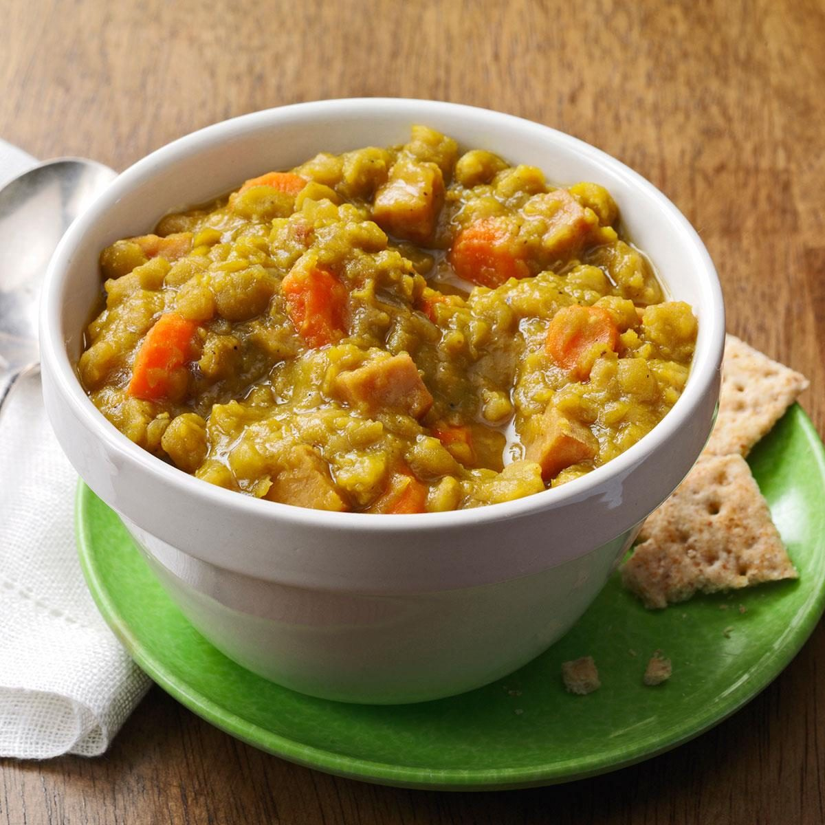 Curried Ham & Split Pea Soup Recipe | Taste of Home