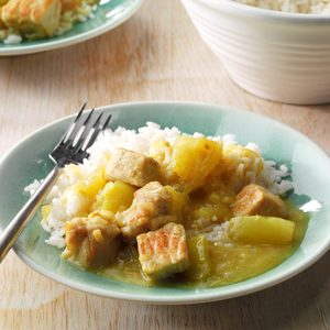 Curried Pork and Green Tomatoes