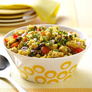 Curried Quinoa and Chickpeas