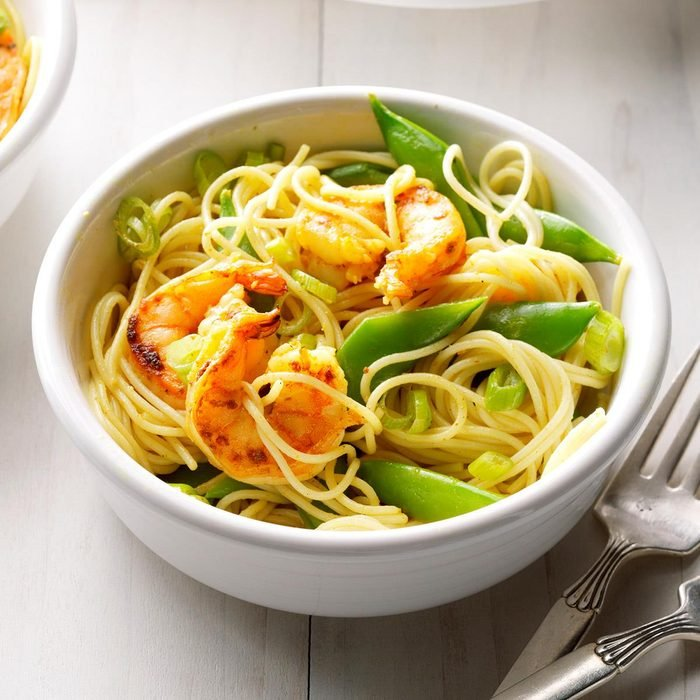 Day 12: Curried Shrimp Pasta