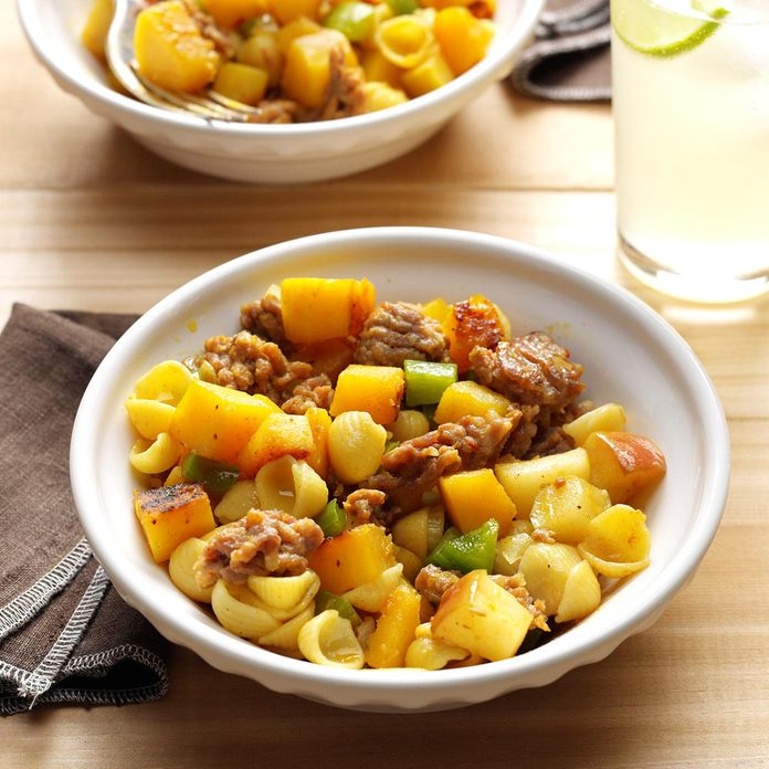 October 27: Curried Squash & Sausage
