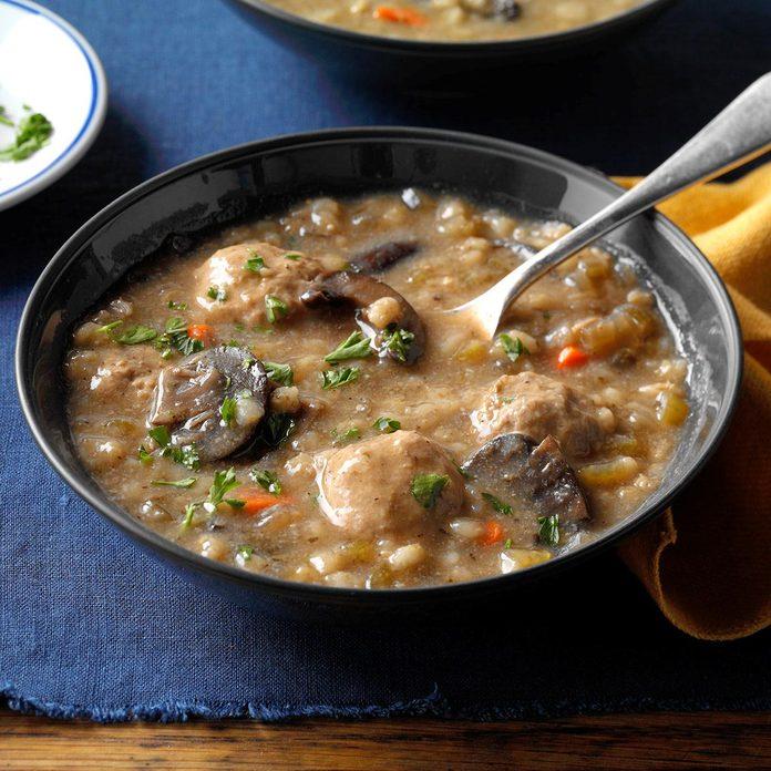 Deb's Mushroom & Barley Soup