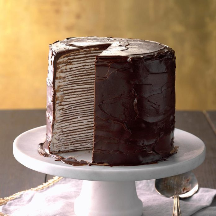 France: Decadent Chocolate Crepe Cake