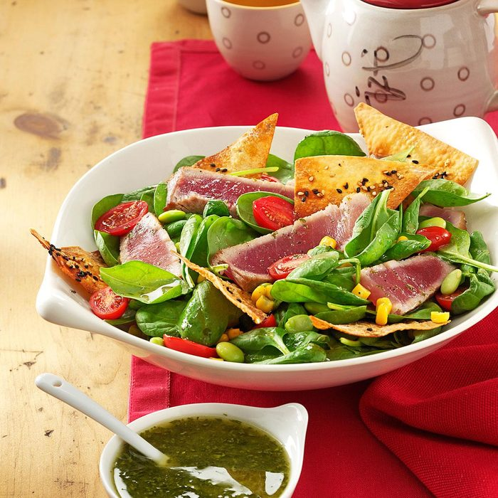 Dee's Grilled Tuna with Greens