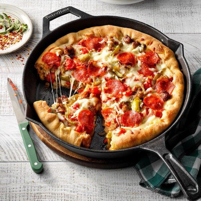 Deep-Dish Sausage Pizza