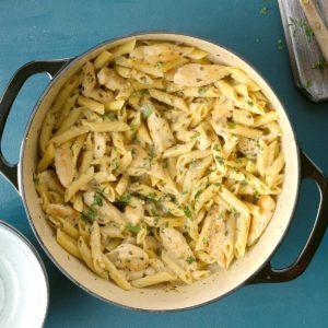 Delish Pesto Pasta with Chicken Marsala