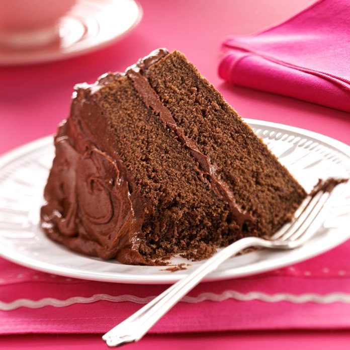 Oklahoma: Devil's Food Cake with Chocolate Fudge Frosting