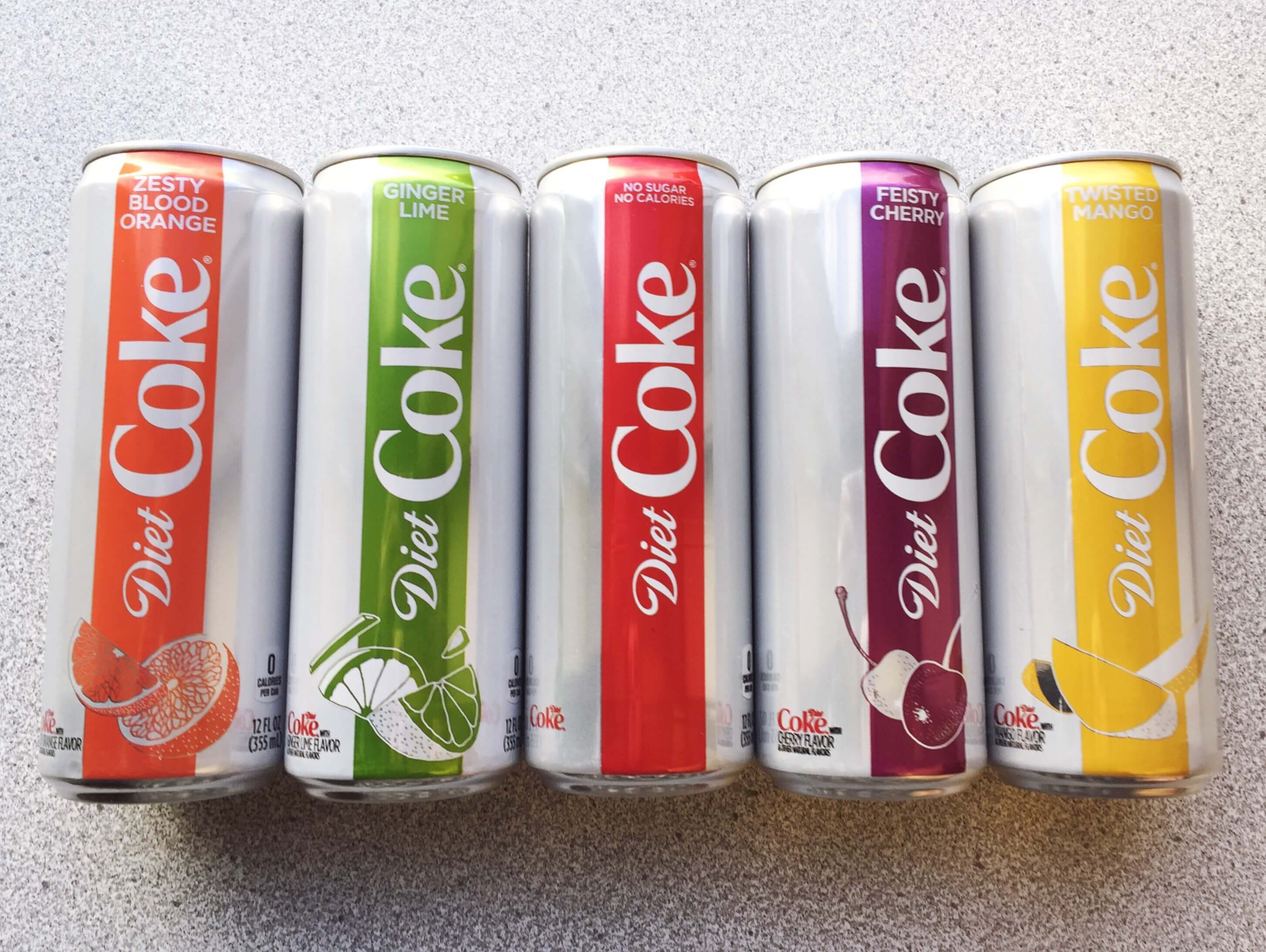we tried the new diet coke flavors and here's what we thought