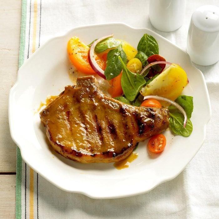Day 18: Dijon Grilled Pork Chops