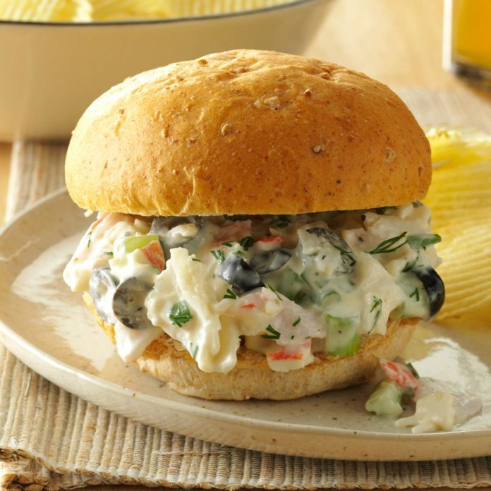 Dilled Seafood Salad Sandwiches