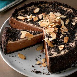 Double Chocolate Almond Cheesecake