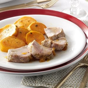 Double-Duty Apricot Pork Tenderloin