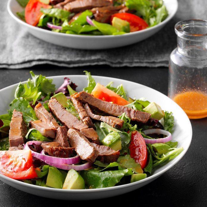 Dressed-Up Steak Salad