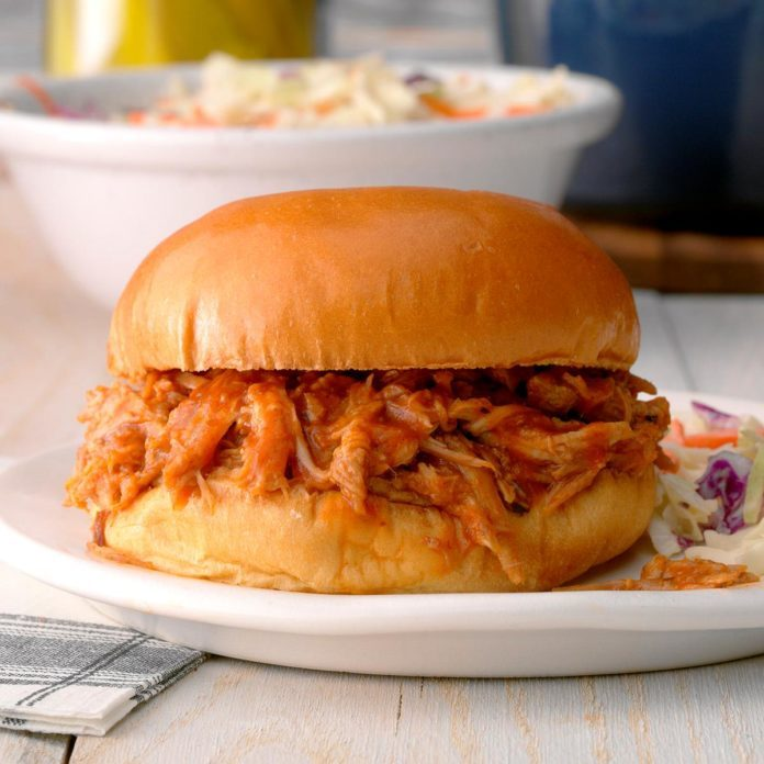 Oven Barbecued Pork Sandwiches
