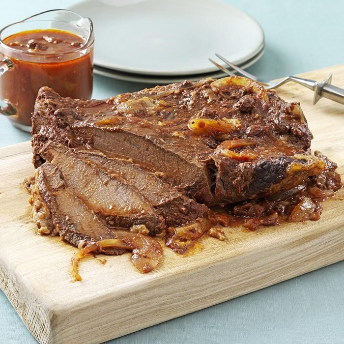 Pressure Cooker Sweet and Sour Brisket
