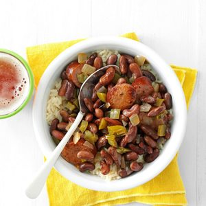 Slow Cooker Red Beans & Sausage