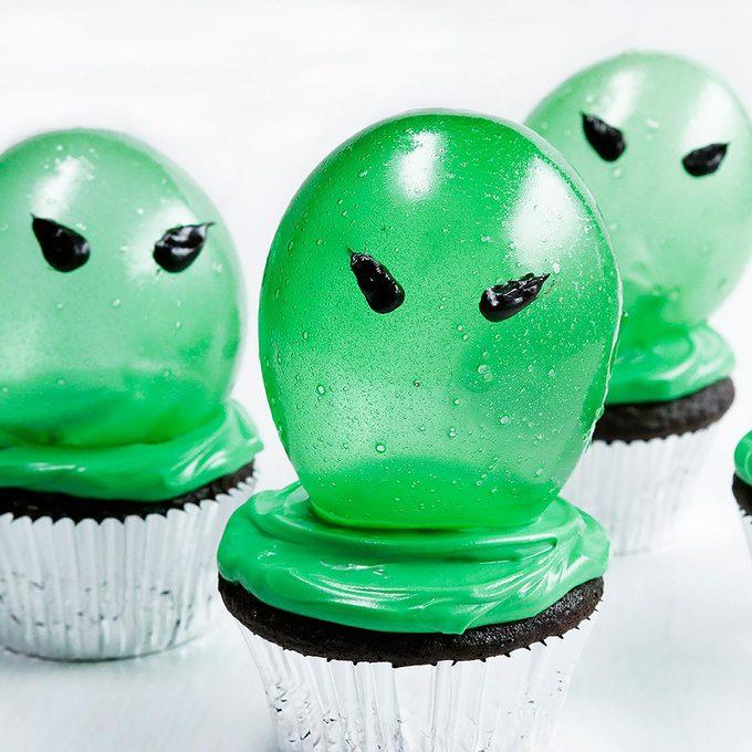 Spooky Gelatin Bubble Cupcakes