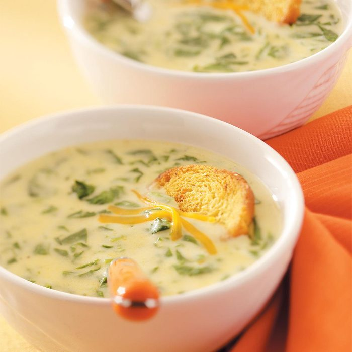 Cream of Spinach Cheese Soup