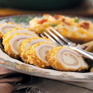 Chicken Cordon Bleu Rolls