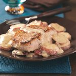 Pork Chops & Potatoes in Mushroom Sauce