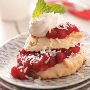 Coconut Cranberry Shortcakes