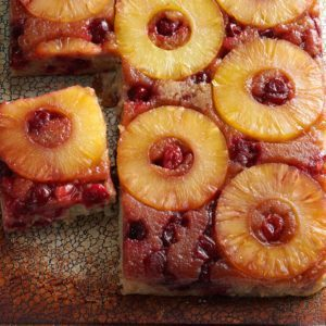 Cranberry Pineapple Upside-Down Cake