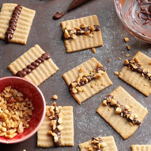 Chocolate Topped Peanut Butter Spritz